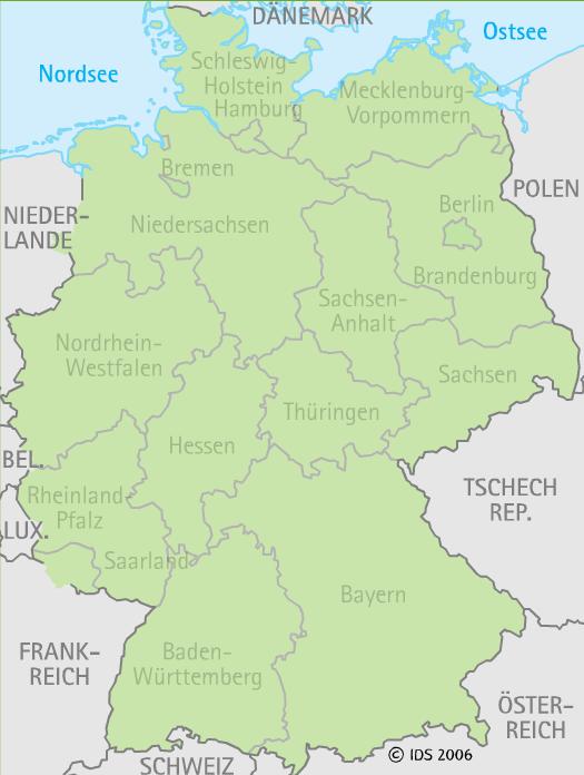 Karte Bundesländer.Urlaub In Deutschland Regionen Reiseziele