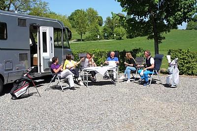 Der Stellplatz inmitten der 45-Loch Golfanlage in  - Fürstliches Golf- und Natur-Resort Bad Waldsee  - Bad Waldsee