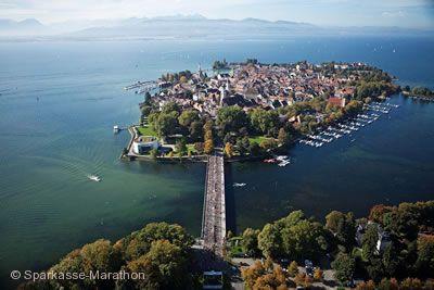 Lindau, Insel mit Seebrücke.