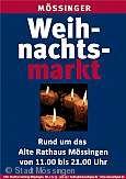 Plakat Weihnachtsmarkt M�ssingen.