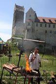 Historischer Markt Burg Katzenstein.