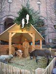 Krippe beim Weihnachtsmarkt Oberkirch.