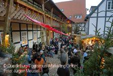 Advent in den Höfen Quedlinburg.