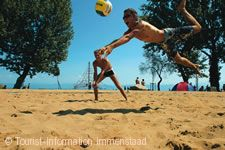 """Beachvolleyball im Strandbad """"Aquastaad"""""""
