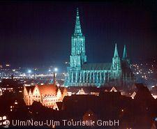 Ulmer Münster bei Nacht