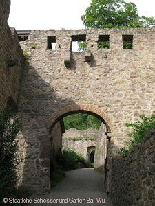 Burg Badenweiler. Der Torweg