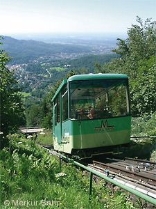 Fahrt auf den Baden-Badener Hausberg (Merkur)