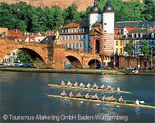 Heidelberg mit Brücke und Schloß