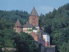 Romantisches Schloss Zwingenberg.