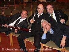 Literatur - Konzert mit dem bekannten 'Trio Château' um Albrecht Holder im barocken Prälatursaal beim Münster Zwiefalten