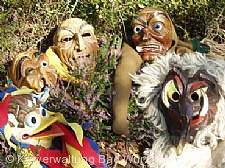 Masken der Narrenzunft Bad Wurzach.