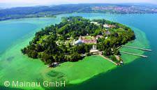 Luftaufnahme Insel Mainau.