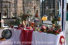 Töpfer- und Kunsthandwerkermarkt Burg Katzenstein.