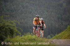 Mountainbikefahrer bei Gernsbach