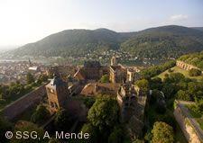 Blick nach Norden vom Heidelberger Schloss