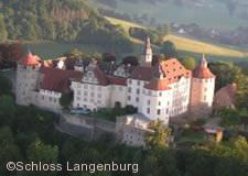Schloss Langenburg aus der Luft