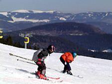 Skifahren auf dem Belchen