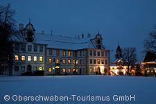 Neues Schloss Kisslegg im Winter.
