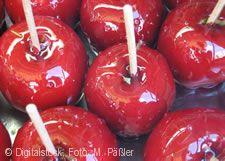 Äpfel kandiert.