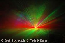 Laser-Show an der Beuth Hochschule für Technik 2008.