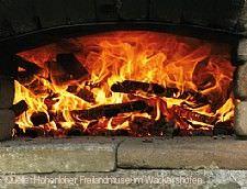 Backofen-Feuer