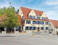 BrauereiWirtschaft in Berg - direkt neben der Brauerei.