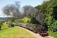 Dampfzug der DBK Historische Bahn