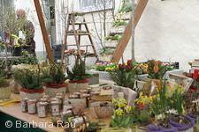 Fr�hlingsmarkt, florale Dekorationen.