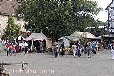 Historischer Marktbereich beim Maulbronner Klosterfest