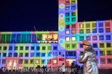 Illumination am Rathaus.