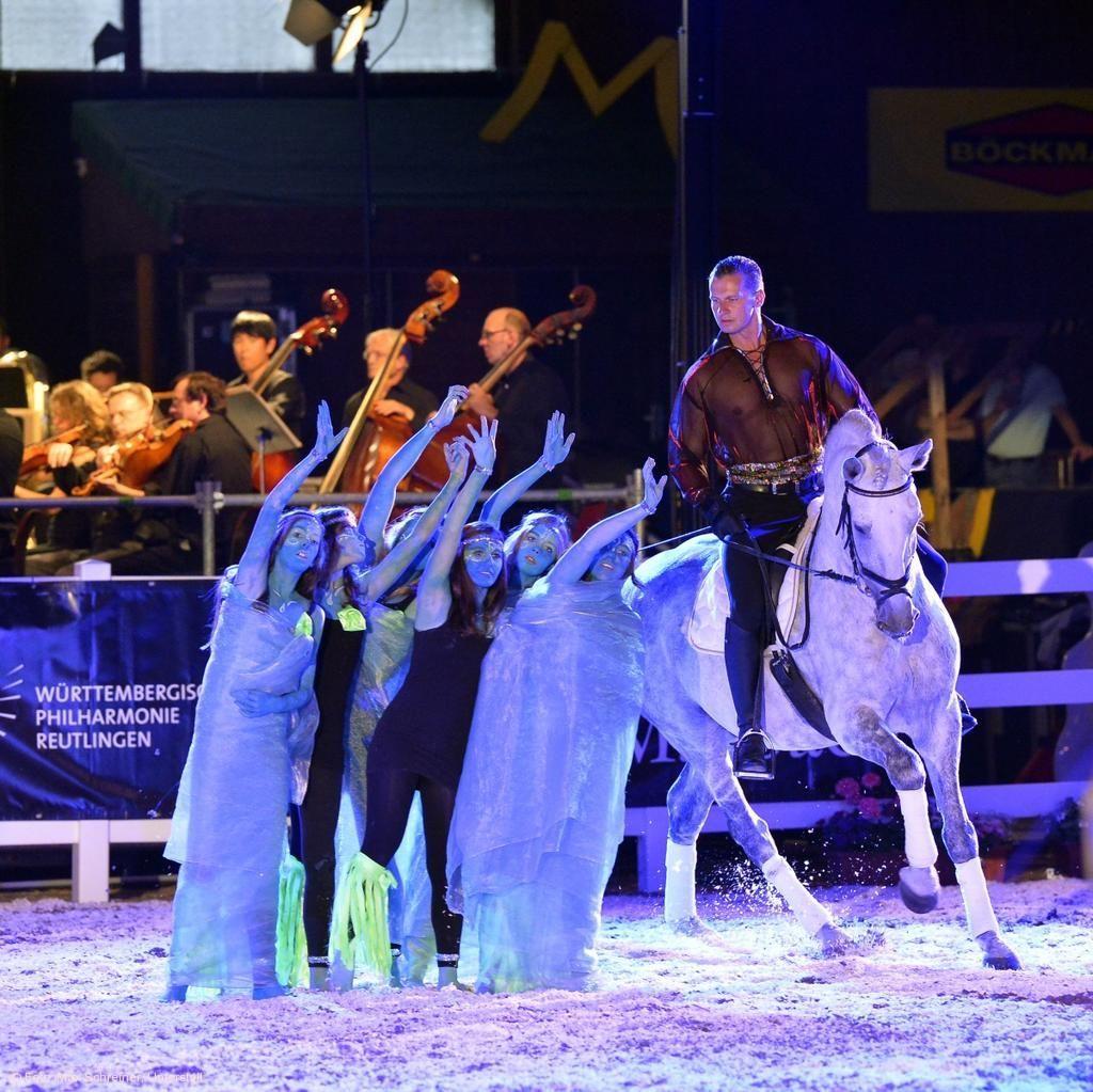 Tanz der Pferde zu sinfonischer Livemusik bei den Marbach Classics. © Array